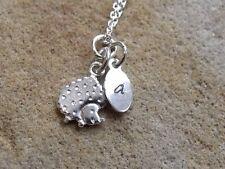 Personalised Sterling Silver Hedgehog Necklace