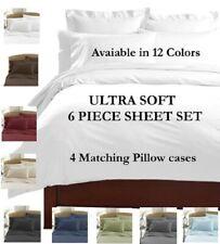 6 PIECE DEEP POCKET 2100 COUNT LUXURY COMFORT SERIES SUPER SOFT BED SHEET SET