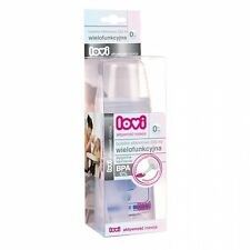 New Lovi Silicone bottle 230 ml for 4m+ with spoon for squeezing food into spoon