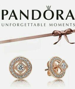 Genuine PANDORA Rose Vintage Allure Earrings Stud - 280721CZ ALE MET UK Fast P