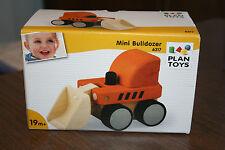 Plan Toys Wooden Mini Bulldozer #6317 Construction Toy