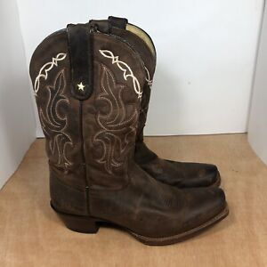 TONY LAMA VAQUERO OILED BROWN LEATHER S TOE COWGIRL BOOTS #VF6007 WOMEN'S Sz 8.5