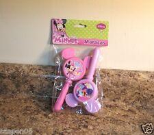 Disney Minnie Mouse and Daisy Maracas 2 Piece Set Musical Instrument New