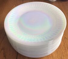 "13 FEDERAL GLASS 9.75"" Moonglow Lustre Aurora Irridescent DINNER PLATES"