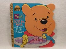 NEW Golden Books Super Shape Book Disney Pooh Just Be Nice to Your Little Friend