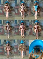 Mattel Barbie Doll Blonde Wig Hat / Barbie Doll Jamie Stacey Francie Twiggy size