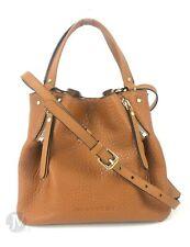 Burberry Brit Leather Canvas Check Small Maidstone Tote Handbag Purse