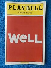 Well - Longacre Theatre Playbill - March 2006 - Lisa Kron - Jayne Houdyshell