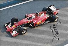 Sebastian Vettel SIGNED 12x8, F1 Scuderia-Ferrari SF15-T  F1 Test Barcelona 2015