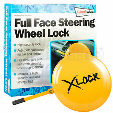 Full Facel Steering Wheel Wheel Lock Clamp Cover Anti Theft Security Car Van