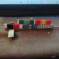 WW2 Army 2nd Lt. Artillery's Officer Garrison Hat W/ 5 Ribbon WW2 Ribbon Rack