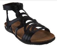 Naot Leather Gladiator Sandals - Sara Black Women's Size EU42 US 11-11.5 New