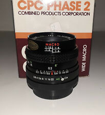 CPC Phase2 28mm/f2.8 Macro Lens for Canon FD (BRAND NEW!)