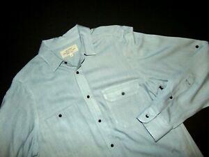 """Trovata Men's Button Front """"Wolfe"""" Shirt ~ Small ~ 100% Cotton ~ Long Sleeves"""