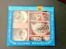 Vintage Teddy Bear Tea set for Dolls Bears Children 1982 Shackman NY Japan