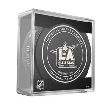 2017 ALL STAR  LOS ANGELES OFFICIAL GAME PUCK w/Cube & SOUVENIR PUCK  TWO PUCKS