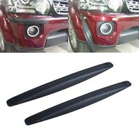 Car Bumper Protector Carbon Fiber Texture Rubber Sticker Strip Anti-rub Edge Lip