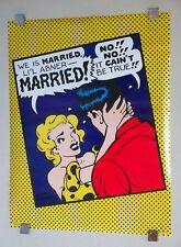 Original 1989 Lil Li'l Abner/Daisy Mae May comic strips poster:Al Capp art/1980s