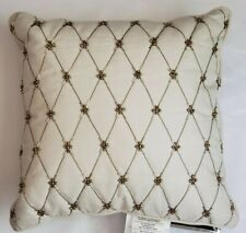 NEW WATERFORD ANNALISE GOLD  BEADED 14 X 14 SQUARE THROW PILLOW