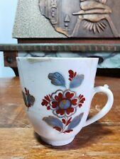 Geminiano Cozzi 18th , tazza forma alta in porcellana raro decoro FIORI TURCHI