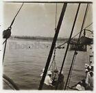 Bénin Cotonou Bateau Colonialisme Plaque D verre stereo Positif Vintage ca 1920