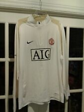 Nike Fit Manchester United AIG Jacket Gold and White XL New w/o Tags