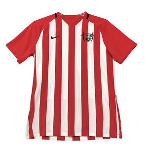 NIKE Dri Fit LEGENDS #4 Soccer Jersey T Shirt Mens M Medium Red White Mesh Back