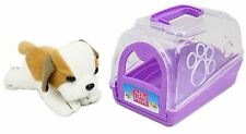My Play House Pet Carry Case Play Set Animal Carrier Toy ~ Purple Dog