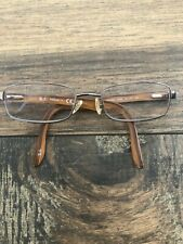 RAY-BAN RB8581 1000 Eyeglasses Frame Titanium 52-18-140 Silver/Wood Print G21