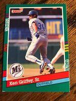 1991 Donruss Ken Griffey Sr #452 Seattle Mariners Baseball Card