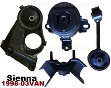 9M1200S 4pc Motor Mounts fit Toyota Sienna 1998 - 2002 for Engine Transmission