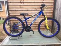 Carrera Blast Boys Mountain Bike 24 Wheel Alloy Frame Disc Brakes Ref1453b
