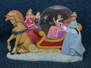 Disney Multi Princess Sleigh Ride Snow Globe Disney Store Belle Aurora Snow Cind