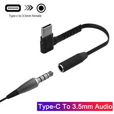 USB Type C to 3.5mm Jack Adapter Headphone Audio Cable For Samsung S20 Note 10+
