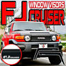 07-14 FJ CRUISER SIDE WINDOW DOOR SUN DEFLECTORS with LOGO - VENT SHADES VISORS