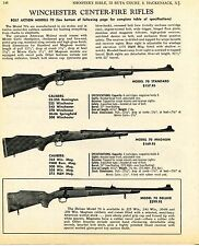 1969 Print Ad of Winchester Model 70 Standard Magnum & Deluxe Center Fire Rifle