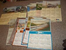 17 LOT VINTAGE AMTRAK OVERSIZED(33 1/2 X 23-1/2)WALL CALENDARS ARTWORK 1978-1998