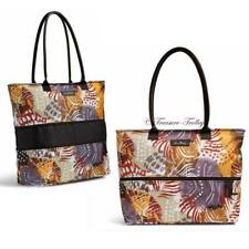 NWT Vera Bradley Lighten Up Expandable Travel Tote Retired Painted Feathers Bag
