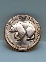 1769-1969 CALIFORNIA BICENTENNIAL COIN/MEDAL THE GOLDEN LAND ~BRONZE L@@K~