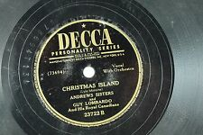 Andrews Sisters & Guy Lombardo - Holiday 78 RPM - Christmas Island / Winter Wond