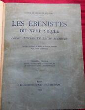 LES EBENISTES DU XVIIIe siècle - Oeuvres - Marques - Comte François DE SALVERTE