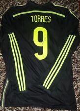 Fernando TORRES SIGNED proof Match UN Worn shirt Atletico de Madrid Spain España