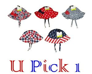 Patriotic Sun Hat Red White Blue Memorial Labor Day July 4TH Boy Girl UPF Summer