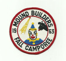 SCOUT BSA 1963 MOUND BUILDERS AREA COUNCIL JACKET PATCH MERGED OHIO BADGE CLOWN