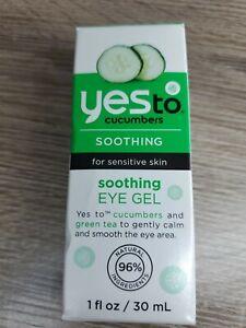 Brand NEW Yes To Cucumbers Sensitive Skin Soothing Eye Gel 1 Fl Oz (R)