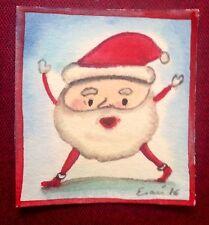 """Watercolor by mexican artist Esau Andrade """" Santa """""""