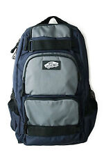 Vans Off The Wall Treflip Skateboard Laptop Pad Navy/Gray School Backpack