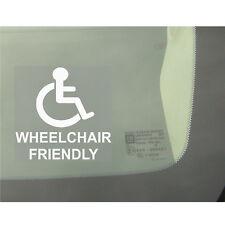 1x sedia a rotelle Friendly-Auto, Furgone, Camion, Autobus Adesivo Finestra-segno disabilità, disattivato