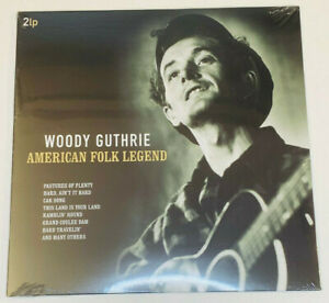 "Woodie Guthrie - American folk Legend ~  Double Vinyl Record 12"" Sealed"