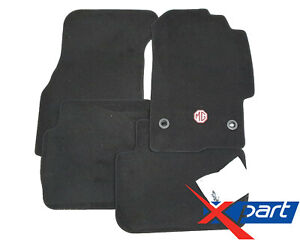 Genuine MG Front & Rear Carpet Mat Set In Black For 45 / 400 MG ZS EAH000820PPA